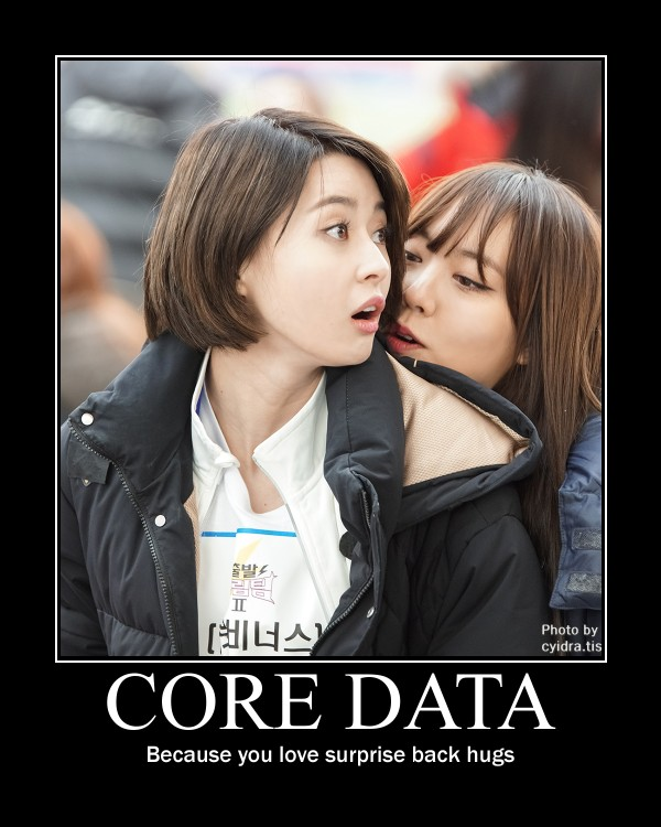 Core Data, because you love back hugs