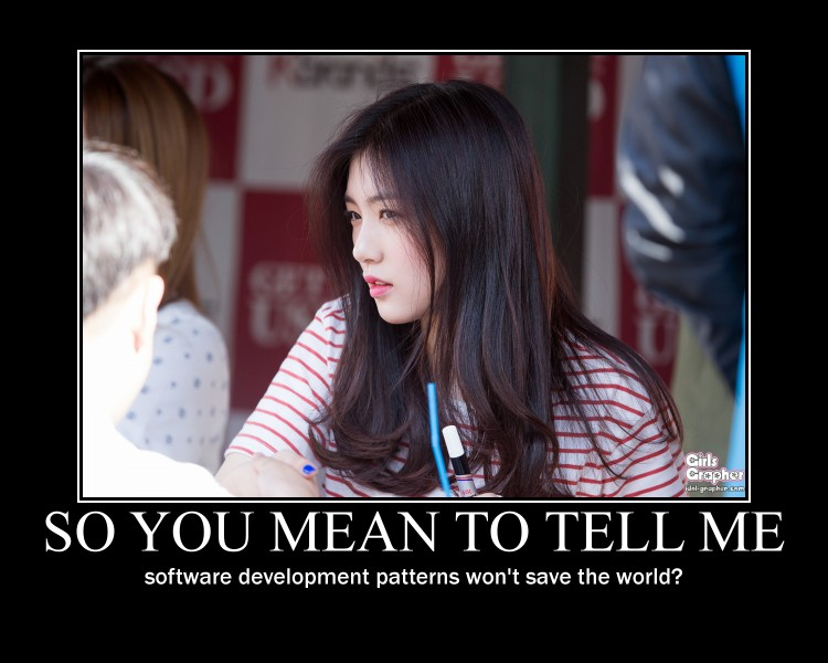 So you mean to tell me software patterns won't save the world?