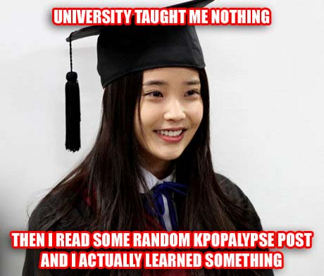 Unfortunately I'm stupidier than IU